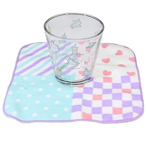 牛乳パック型 グラスコップ & ミニタオル セット[食器ギフトセット]ジューシーなユニコーン/2020SS