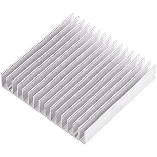 "Aluminum Heat Sink Heatsink Module Cooler Fin for High Power Transistor Semiconductor Devices with 16 pcs fins 3.93""(L) x 3.93""(W) x 0.7""(H) /100mm(L)x 100mm(W) x 18mm(H)"