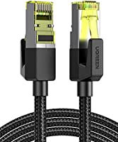 UGREEN Cat7 Ethernet Kabel Nylon Patchkabel met RJ45 Connector 10Gbps 600MHz Cat7 FTP LAN Kabel Compatibel met Cat6...