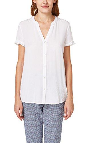 edc by ESPRIT Damen 038CC1F020 Bluse, Weiß (White 100), Small