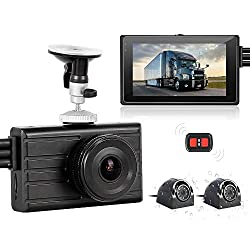 in budget affordable VSYSTO 3CH Dash Cam Camera Recording Camera Recording Backup DVR Front 1080P Side  Rear VGA Blind View…