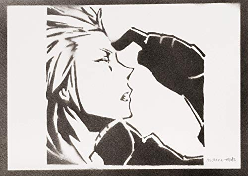 Kingdom Hearts Poster Axel Plakat Handmade Graffiti Sreet Art - Artwork