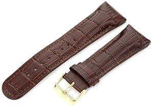 4f27a70c4 Buy JBW JB-24D-GLD-BRN 24-mm Genuine Brown Crocodile Pattern Buckle Leather  Band Watch Strap Now