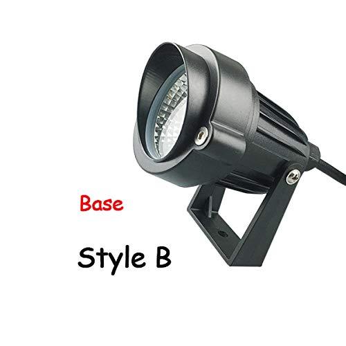 JXIHYD Tuin Gazon Lamp Outdoor Led Nagel Licht Waterdichte Verlichting Led3W 5W Led Licht Tuin Pad Spotlight Ac110V 220 V Dc12V Stijl B Base 3W Warm Wit Dc12V