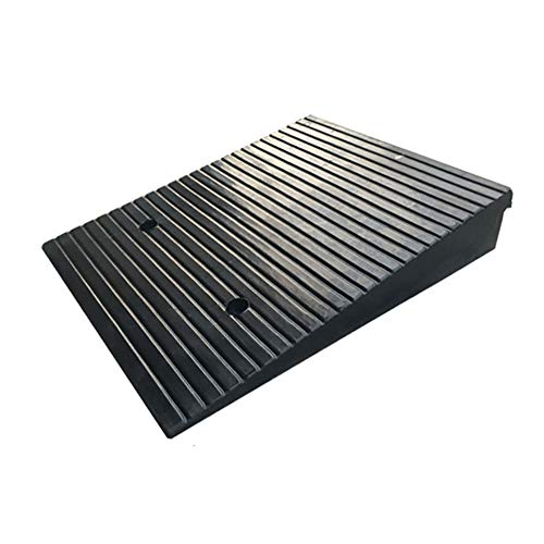 LILL Curb Ramps Rubber Road Car Uphill Kerb Ramps, Anti-slip Rubber Curb Threshold Ramp,For Car Caravan Trailer Wheelchair Disabled Acces