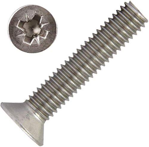 Verzonken kopschroeven met kruiskop Z M5x10 5 stuks van roestvrij staal A2 V2A DIN 965ISO 7046 verzonken kop volledige schroefdraad verzonken schroeven Pozidrive schroefdraadschroevenAGBOX