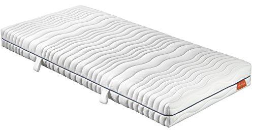 sleepling orthopädische 7-Zonen Kaltschaum Matratze Comfort 120 - Härtegrad 2 140 x 200 x 18 cm, weiß