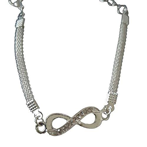 Pulsera de Plata Infinita de Moda, joyería para Hombres y Mujeres, Pulsera, Regalos encantadores para el día de San Valentín
