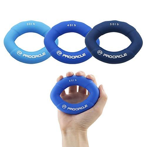 Handgriffe Muscle Power Training Grün Gummiring Exerciser Finger-Handgriff Leicht Carry-Handgreifer Greifring (Color : Blue)