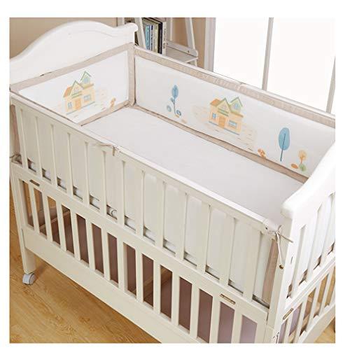 Babybed Bumper Ademende Meshsolid End Ledikant Liner Set Nursery Cot Bed Bumper Baby Bed Rond Veiligheid Protector Voor Full-Size Crib
