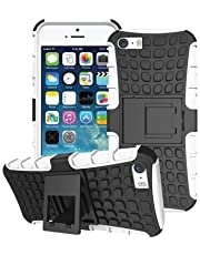 iPhone 5 5S SE Hoesje Case Case, Tough Rubber Rugged Hard/Soft Slim Protective Shockproof Heavy Duty Combo Hybrid Rugged Shell 4.0 inch iPhone 5 5S SE 4.0 Inch 1 x Polsband