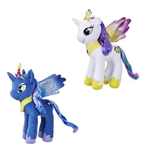Spielotopia My Little Pony E0429ES0 Mane divertente peluche Princess Celestia e E0430 Princess Luna, 30 cm, set di 2