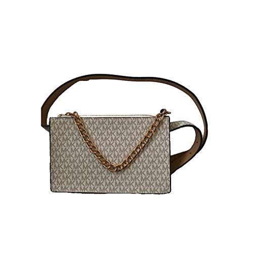 Michael Kors MK Signature Fanny Pack Belt Bag Vanilla Medium