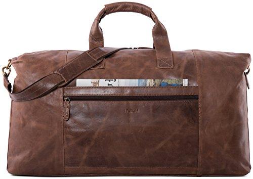 LEABAGS Sydney genuine buffalo leather duffle bag in vintage style - CrazyVinkat