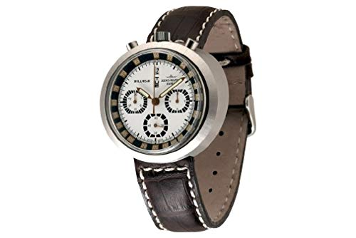 Zeno Watch Basel Reloj para Hombre Analógico Automático con Brazalete de Cuero 3591-i26