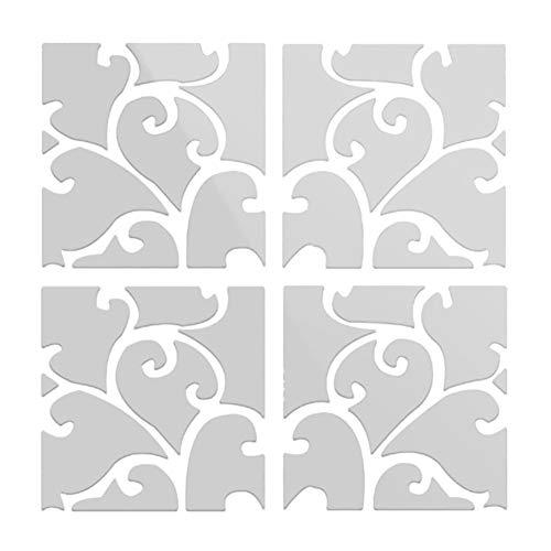 Sunfauo Espejo De Pared Pegatinas Pared Decorativas Decoraciones de Pared para dormitorios Pegatinas de Pared para dormitorios 3D Mariposa Pegatinas Silver