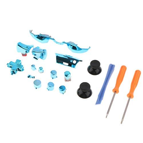 gazechimp Kit De Reparo De Botões De Gatilho De Conjunto Completo Para Xbox One Controller 3,5 Mm Jack Elite - Azul