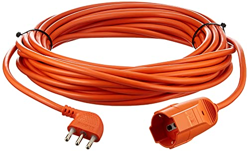 BTicino S2515X40 Prolunga Garden ad Alta Flessibilità 2P+T, con Presa Tedesca, Lunghezza 15 m, 3500 W, 250 V, Corrente massima: 16 A, Arancione