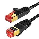 ANNNWZZD Cable de red CAT.8, 40 Gbits, CAT 8 Gigabit RJ45, 2000 MHz, con conector RJ45 dorado, cable de conexión LAN (1 m)