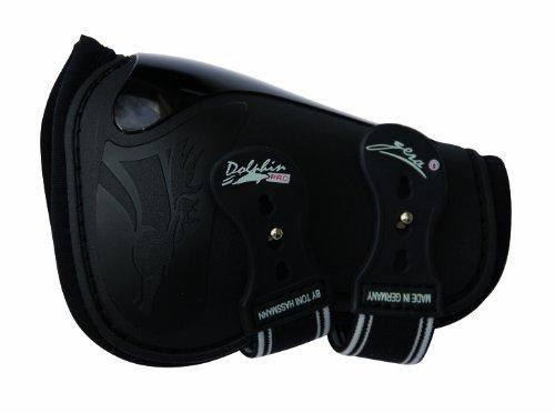 Gera 8027 T Dolphin Pro Sprunggamasche, hinten, Große II/M, schwarz, paarweise