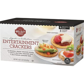 Wellsley Farms Entertainment Crackers 4 31 Inexpensive Free shipping anywhere in the nation oz. x2 pk. AS