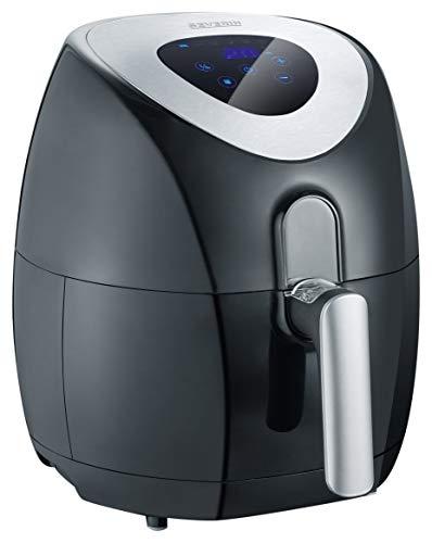 Severin FR 2430, Friggitrice ad aria calda, Cestello da 3.2 Litri, 6 programmi di cottura senza olio o con poco olio, display touch LCD, 1500 W, Nero (Ricondizionato) )