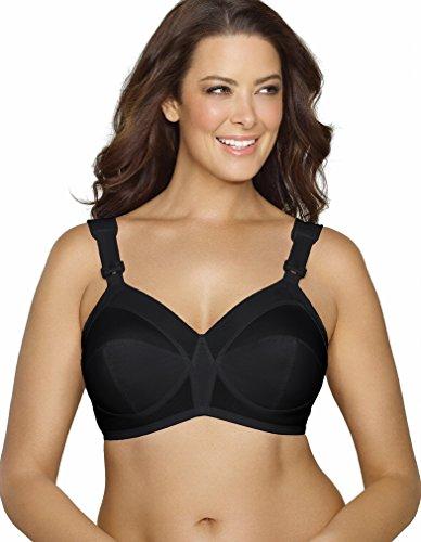 Exquisite Form Women's Plus Size Original Support Wireless Bra 5100532-44 DD, Black
