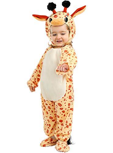 Funidelia   Disfraz de Jirafa para bebé Talla 12-24 Meses ▶ Animales, Desierto - Color: Marrón - Divertidos Disfraces y complementos para Carnaval y Halloween