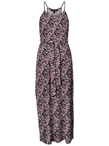 VERO MODA dames VMSIMPLY EASY SLIT MAXI DRESS WVN GA jurk, Night Sky, S