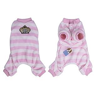 Yunt Hiver doux en polaire pour chien chaud Cosy Combinaison pyjama manteaux Animal domestique Chiot Chat Vêtements Taille