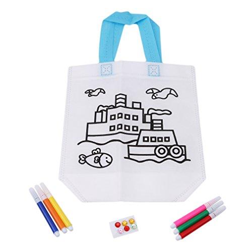 CanVivi Lot de 3 sacs amusants pour peindre et bricoler les enfants - Accessoires de bricolage - 3