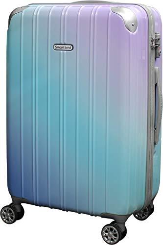 [DPN5035]キャリーケース スーツケース 軽量 Wキャスター TSAロック キャリーバッグ 旅行バッグ 旅行カバン (M, シアンパープル(拡張なし))