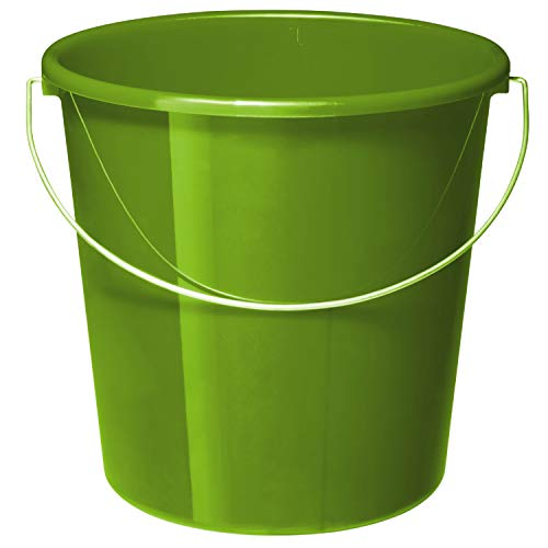 Rotho Vario Secchio 10L con Maniglia, Plastica (PP) Senza BPA, Verde, 5L (28.0 X 28.0 X 26.0 cm)