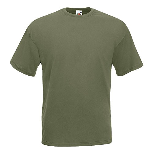 Fruit of the Loom - Classic T-Shirt 'Value Weight' L,Classic Olive
