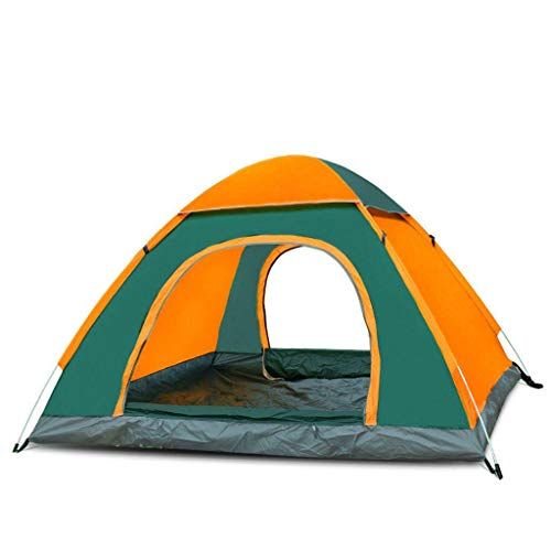 HUNOL Pop Up Tent, Speed Open Foldable Tent Portable Camping Tent Shading for Outdoor-B-3-4People Double Door
