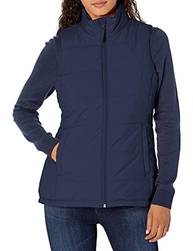 Amazon Essentials Women's Heavy-Weight Puffer Vest Outerwear, -Navy, M