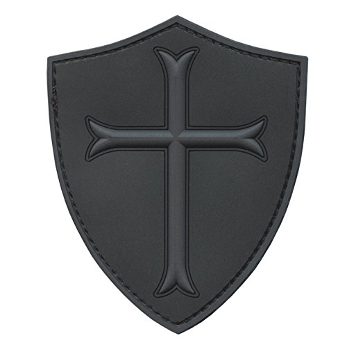 2AFTER1 Subdued ACU US Navy Seals DEVGRU Crusaders Templar Knight Cross Morale PVC 3D Touch Fastener Patch