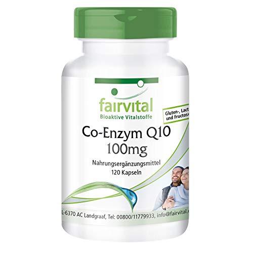 Coenzima Q10 100mg - VEGANA - CoQ10 Ubiquinona - 120 Cápsulas - Suministro para 4 meses - Calidad Alemana