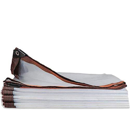 QI-CHE-YI Tarps, Transparent Poly Plane, Kunststoff Tarp mit Ösen und verstärkte Kanten, UV-beständig, Lager Staubdichtes, Trennwand Vorhang,2x8m
