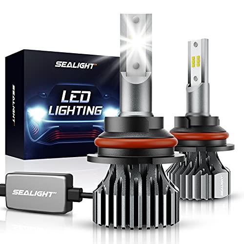 SEALIGHT 9007 HB5 Led Bulbs 12000LM 24xCSP Chips Dual Beam Led Bulb 6000K White