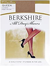 Berkshire Women's Plus-Size Queen All Day Sheer Non-Control Top Pantyhose - Sandalfoot, City Beige, 1x-2x