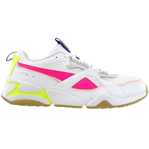 PUMA Womens Nova 2 Lace Up Sneakers Shoes Casual - White - Size 7 M
