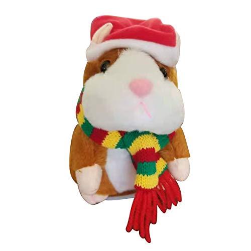 Rouku Smart Walking Vibration Singing Aufnahme Hamster sprechende Puppe Elektrisches Plüschtier Voles Kinderspielzeug