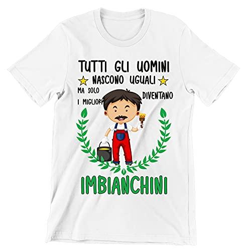 Incidiamo T-Shirt Maglietta Imbianchino Divertente Mestieri Tutti Gli Uomini Nascono Uguali, ma Solo i Migliori Diventano imbianchini t-Shirt Divertenti