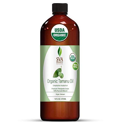 SVA Organics Tamanu Oil Organic Cold Pressed 16 Oz USDA Pure Natural Unrefined Carrier Oil for Face, Skin Care, Soap Making, Hair & Body Care