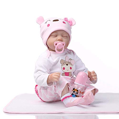 Reborn Baby Muñecas Vinilo De Silicona Suave Dormir Real Juguete Recién Nacido De Niña Regalo De Cumpleaños