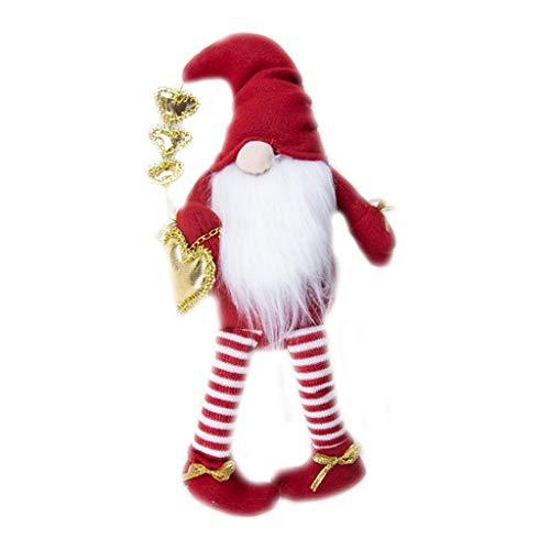 Xuebai Svedese Tomte Scandinavo Gnomo di Natale Nisse Peluche Ornamenti di San Valentino Bambola GNOME di San Valentino A#