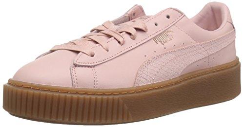 PUMA Basket Platform Euphoria Gum, Zapatillas Deportivas. para Mujer, Plata y Oro Rosa, 39.5 EU