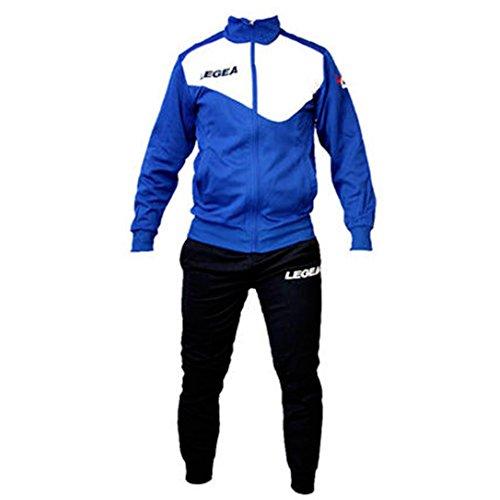 Tuta Legea M1110 Messico da Uomo Completa Giacca e Pantalone Training Sportiva (M, Azzurro-Bianco)