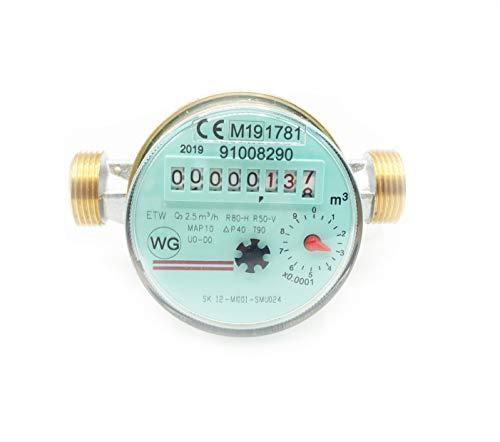 Wohnungswasserzähler Wasseruhr einstrahlig 2,5 m³ 3/4
